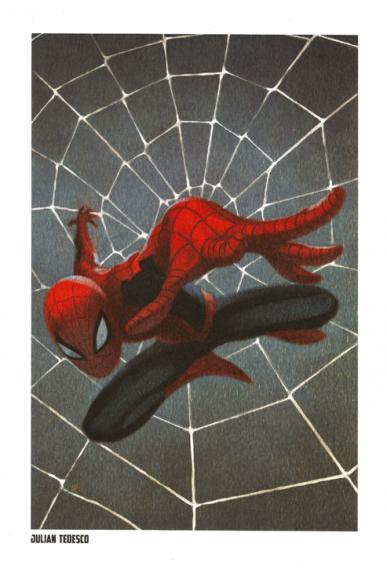 Lithographie Spider-Man par Julian Tedesco