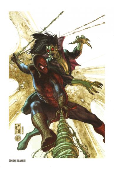Lithographie Spider-Man par Simone Bianchi