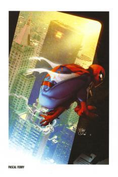 Lithographie Spider-Man par Pascal Ferry
