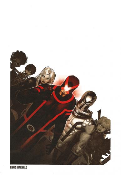 Lithographie X-Men par Chris Bachalo