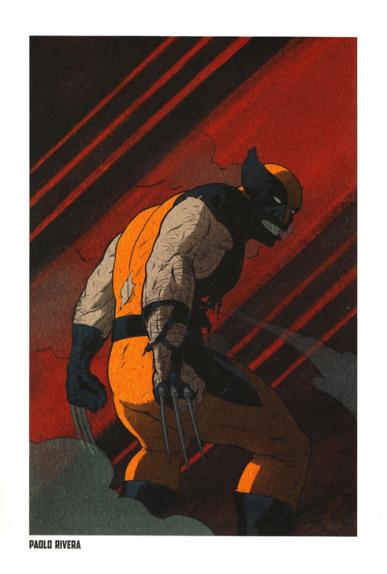 Lithographie Wolverine par Paolo Rivera