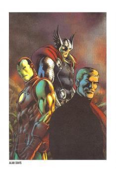 Lithographie Avengers - Captain America par Travis Charest