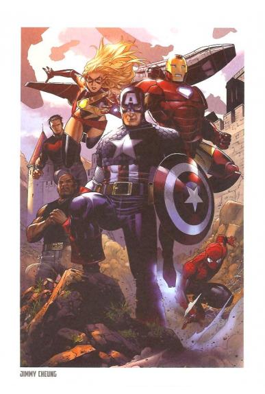 Lithographie Avengers par Alan Davis