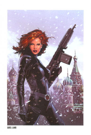 Lithographie Avengers - Hawkey & Black Widow par Jae Lee