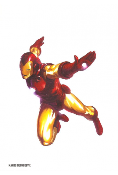 Lithographie Iron Man par Marko Djurdjevic