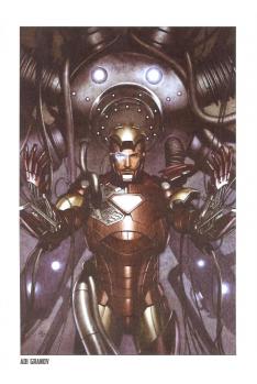 Lithographie Iron Man par Gabrielle Dell'Otto