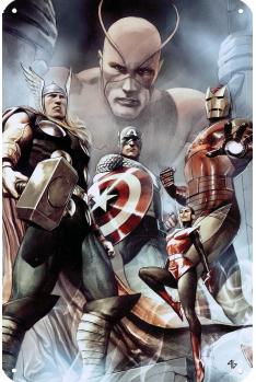 Plaque Métal Iron Man