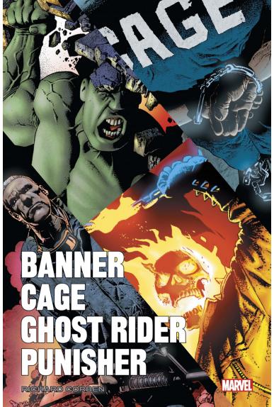 Banner, Cage, Punisher par Richard Corben