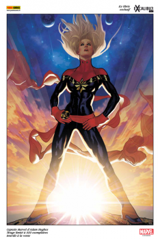 Lithographie Captain Marvel par Adam Hugues
