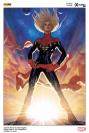 Lithographie Captain Marvel par Adam Hugues