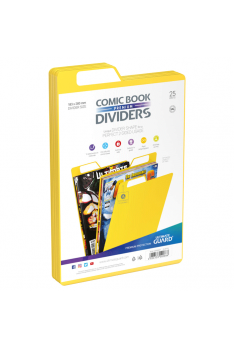 Intercalaires pour comics jaune x25